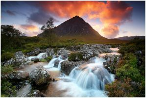 Etive Mor Sunset by MindShelves