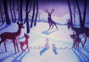 Bambi's Wintertime-fan art by Sherryhill