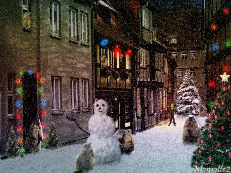 Christmas village for marmots by Momotte2