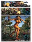 The Jungle Disaster - Amazon vs Soldiers by giantess-fan-comics