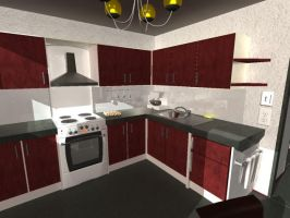 house 07 Final Render Kitchen by Kitsumeo