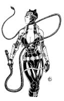 Catwoman Black and White by BanebrookStudios