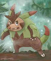 Speedpaint Chespin Evolution by Lumary92