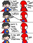 superman vs spiderman by Akuryou-san