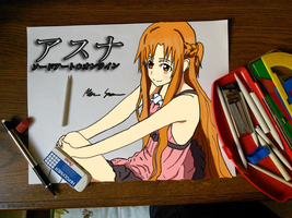 Colored Asuna picture! by kenchinblade