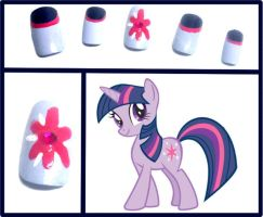 Twilight Sparkle Nails by OMG-itz-J3551K4