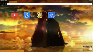 Sword Art Online Google Chrome Theme 2 by unenglishable