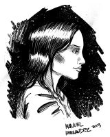 Just Another Drawing of A Girl by MannyHernan
