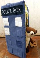 Tardis and Baby Meerkat Toys by greenchylde