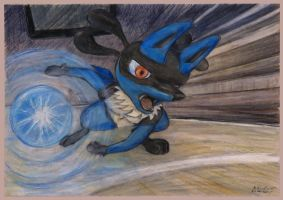 Lucario aura sphere by SSsilver-c