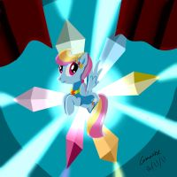 Crystal Rainbow Dash by Camaine