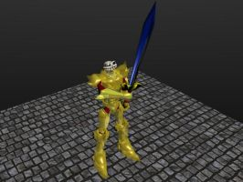 Sir Daniel's golden armor 02 by g2mdluffy