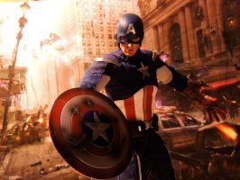 Captain America - Avenge by Riebeck
