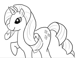 Rarity Line Art by GoWaterTribe
