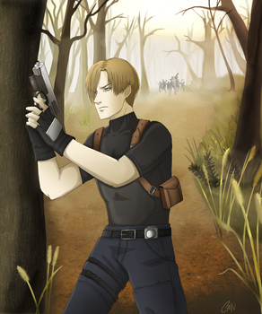 Commission- Leon S Kennedy by Cain-the-Smexy