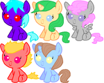 5 Pony Adoptables CLOSED by Jess4horses