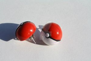 Pokeball Earrings Polymer Clay by VerUniqueCreations