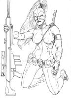 Lady Deadpool commission by G-Spot1