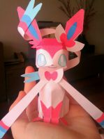 My cutie Sylveon by me~Papercraft! by LadyEdile