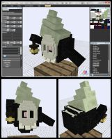 Minecraft Poe Duskull Mob Model by FuzzyAcornIndustries