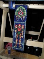 Beaded METROID Banner WIP 3 by kayanah