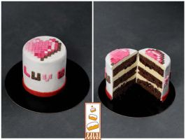 Luve You Paint Cakes Geek Cakes by Paintcakes