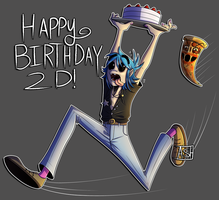 Happy Birthday 2D! ||2017|| by Ashesfordayz