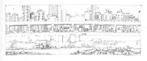 Pen - Outer Circle Line - 2 by artbytheo