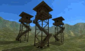 watchtower made of wood gif by DennisH2010