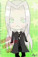 Sephiroth Chibi by LadyQuintessence