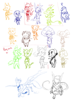 Animal Crossing and LS Sketch Requests by WellHidden