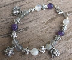 Silver and Shell Turtle Bracelet 3 by Windthin