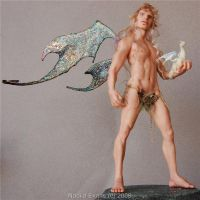 Male faery and baby dragon 1 by polymer-people