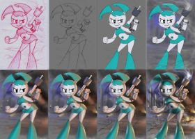battle jenny WIP by 14-bis