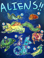 Alien Adoptables [OPEN] by Chocodopts