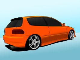 Honda Civic Vector by mrd2345