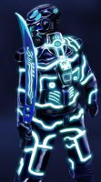 Tron inspired warrior by JerryYeh712