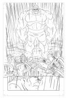 Avengers: EMH # 11 - page 7 pencils by TimLevins