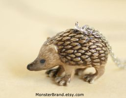 Hedgehog Necklace by foowahu-etsy