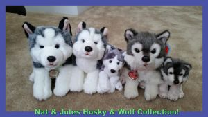Nat and Jules Husky and Wolf collection by Vesperwolfy87