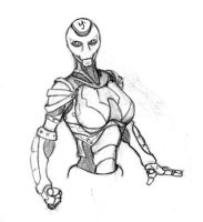 Female warforged by Belabras