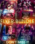 PSD Magical Flyer Bundle - 4in1 by retinathemes
