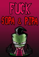 Zim hates SOPA and PIPA by kameiko