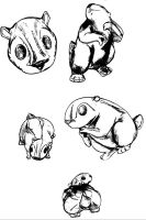 Gopher sketches by SoulStarisborn