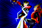 Commish - Elecman vs Quickman by Sonicbandicoot