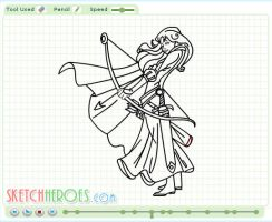 How to Draw Merida Part 2 by SketchHeroes