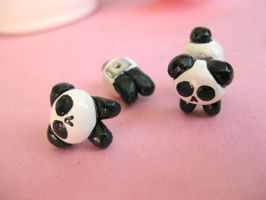 Mini Panda Studs IV by sunnyxshine
