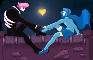 Mystery Skulls - Ghost Lewis and Vivi by lordmylar06