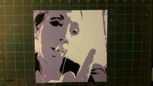 middle finger spray paint stencil by toolowbrow