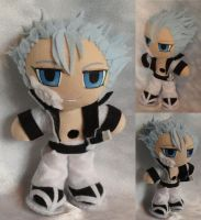 Commission, Mini Plushie Grimmjow Jeagerjaques by ThePlushieLady